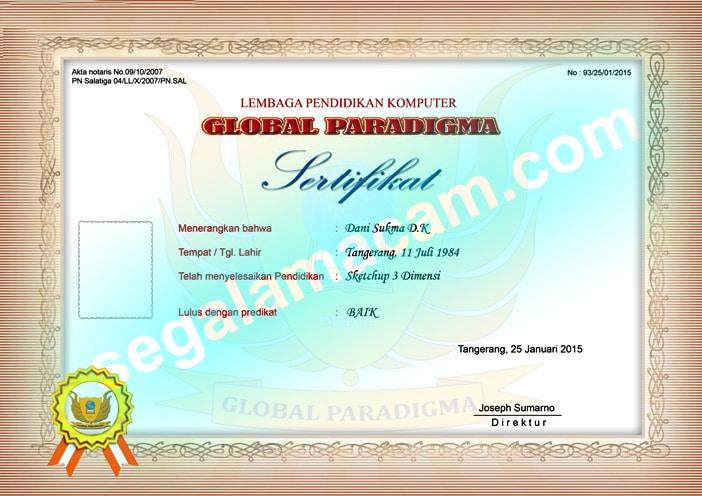 sertifikat global paradigma